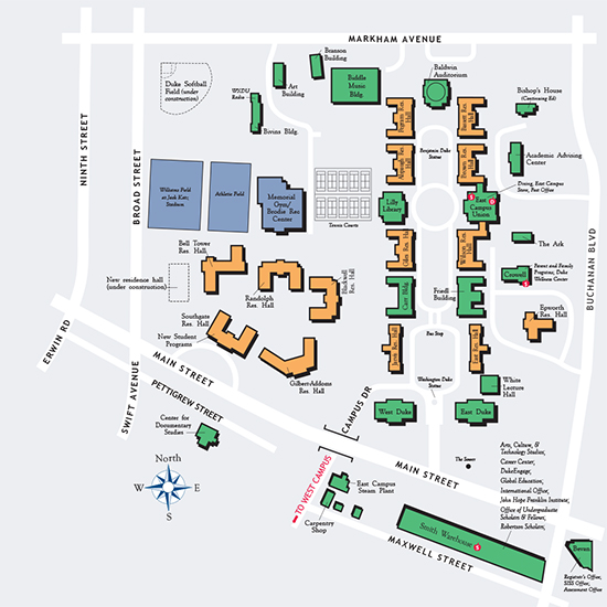 Map of east campus